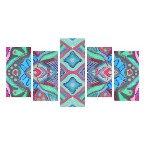 coral 5 Canvas Print Sets E (No Frame)