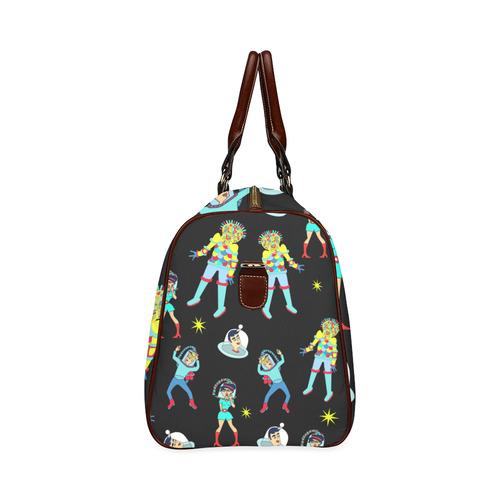 Alien Attack Waterproof Travel Bag/Small (Model 1639)