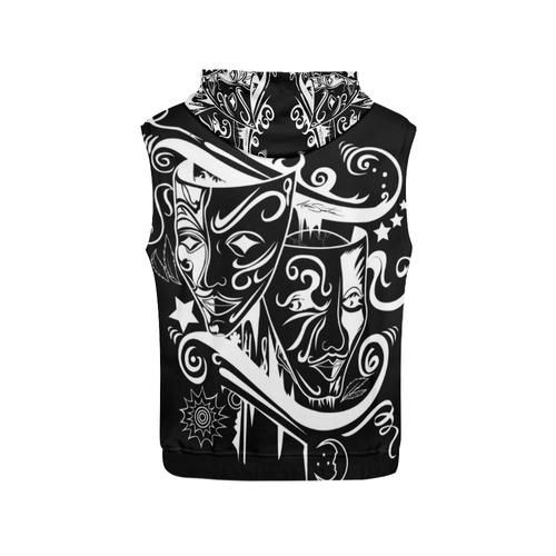 Zodiac - Gemini All Over Print Sleeveless Hoodie for Women (Model H15)
