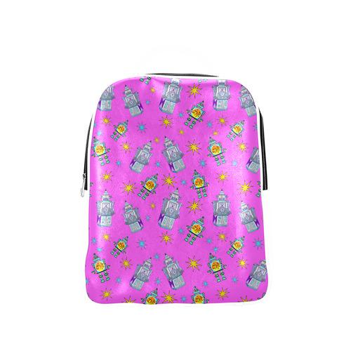 pink robots Popular Backpack (Model 1622)