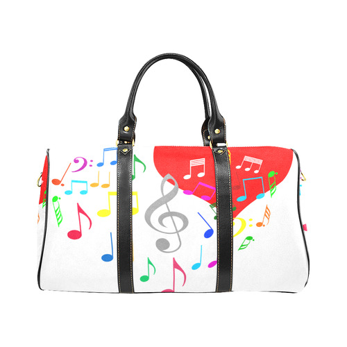 Singing Heart Red Song Color Music Love Romantic New Waterproof Travel Bag Large  (Model 1639)  43b5533519f6b