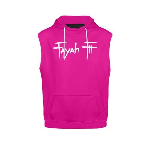 cb2adda52f24e FF Sleeveless Hoodie Pink All Over Print Sleeveless Hoodie for Women (Model  H15)
