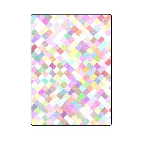 """Pastel Mosaic Blanket 58""""x80"""""""