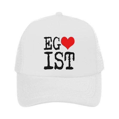 Egoist Red Heart Black Funny Cool Laugh Chic Trucker Hat