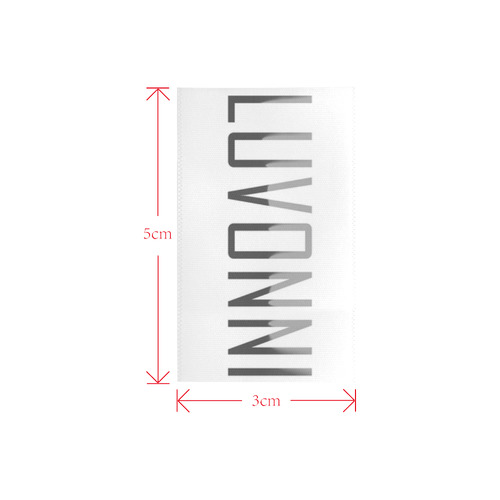 LUVONNI by Design Private Brand Tag on Shoes Inner (3cm X 5cm)