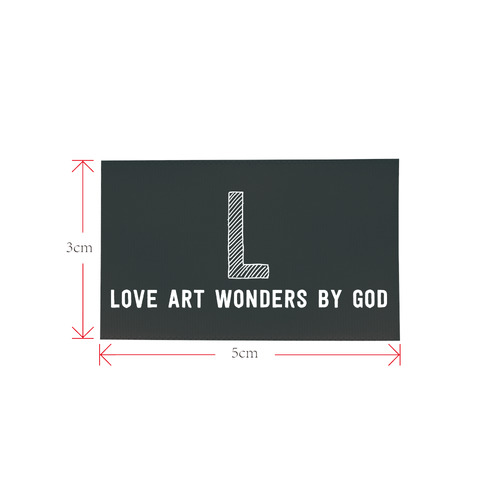 love art wonders Private Brand Tag on Shoes Tongue  (5cm X 3cm)