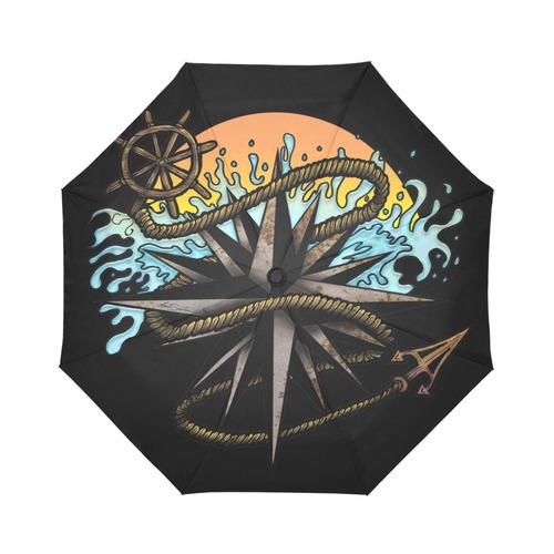 Nautical Splash Auto-Foldable Umbrella (Model U04)
