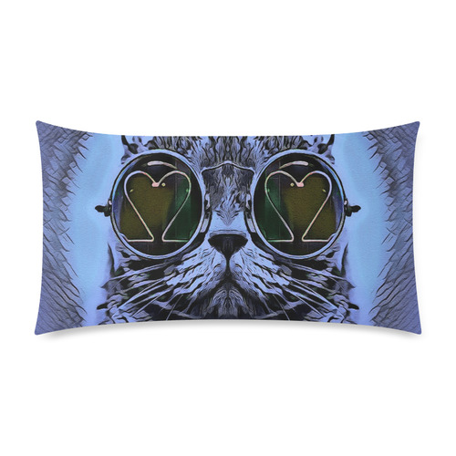 "BLUE CAT Custom Rectangle Pillow Case 20""x36"" (one side)"