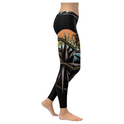 Nautical Splash New Low Rise Leggings (Flatlock Stitch) (Model L07)