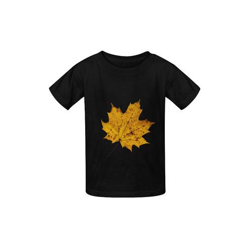 353dd6d520147 Maple Leaf Canada Autumn Yellow Fall Flora Cool Kid's Classic T-shirt  (Model T22)