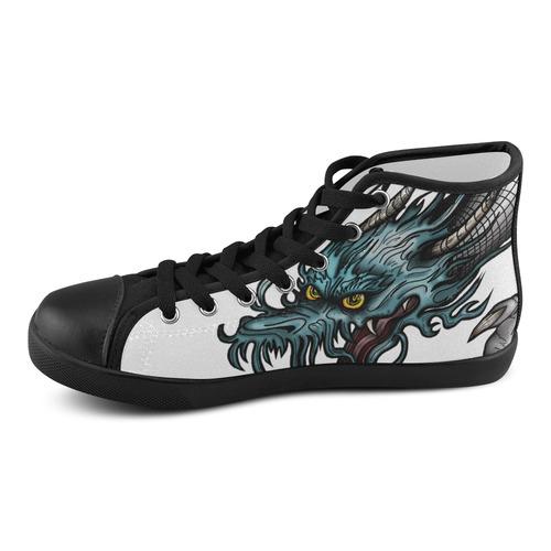 Dragon Soar Men's High Top Canvas Shoes (Model 002)