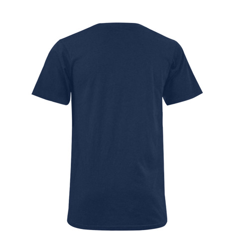 White Star Patriot America Symbol Cool Trendy Men's V-Neck T-shirt (USA Size) (Model T10)