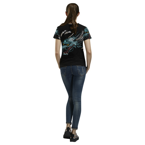Dragon Soar All Over Print T-Shirt for Women (USA Size) (Model T40)