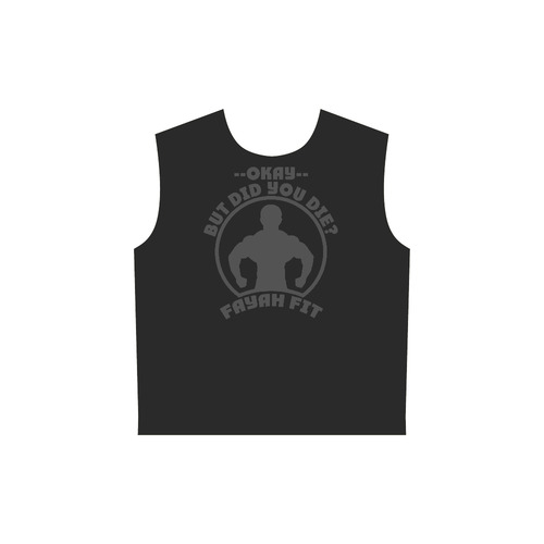2b49a88a8b7bf0 ... Fayah Fit Ladies Sleeveless did you die hoodie black All Over Print  Sleeveless Hoodie for Women ...
