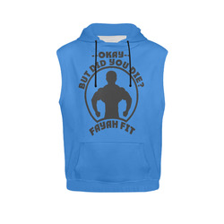 Fayah Fit Ladies Sleeveless did you die hoodie blue All Over Print  Sleeveless Hoodie for Women 0b019ff20ff64