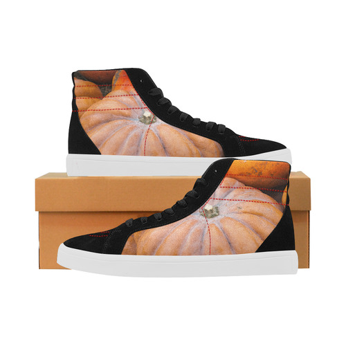 pumpkin halloween thanksgiving crop holiday cool capricorn high top casual shoes for women model 037