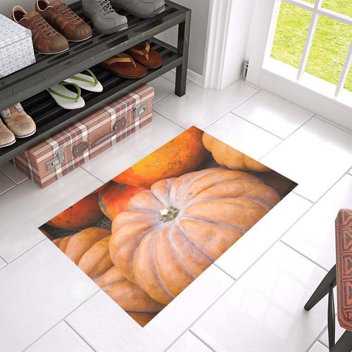 """Pumpkin Halloween Thanksgiving Crop Holiday Cool Azalea Doormat 24"""" x 16"""" (Sponge Material)"""