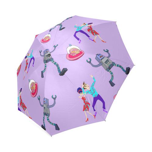Alien Robots Attack Foldable Umbrella (Model U01)