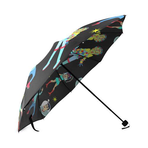 alien Robot Attack Foldable Umbrella (Model U01)
