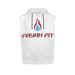 814339472d9a6e Fayah Fit No Sleeve Hoodie White All Over Print Sleeveless Hoodie for Women  (Model H15