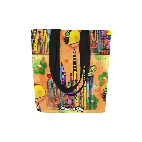 Mexico City Popart by Nico Bielow Canvas Tote Bag (Model 1657)