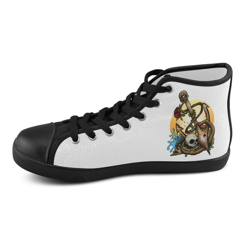 Anchored Men's High Top Canvas Shoes (Model 002)