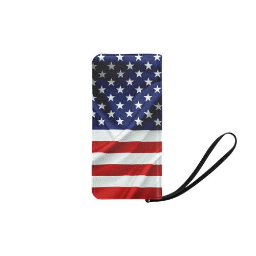 America Flag Banner Patriot Stars Stripes Freedom Women's Clutch Purse (Model 1637)