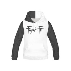 55d6eb23c3225d Fayah Fit Hoodie White and Black All Over Print Hoodie for Kid (USA Size)