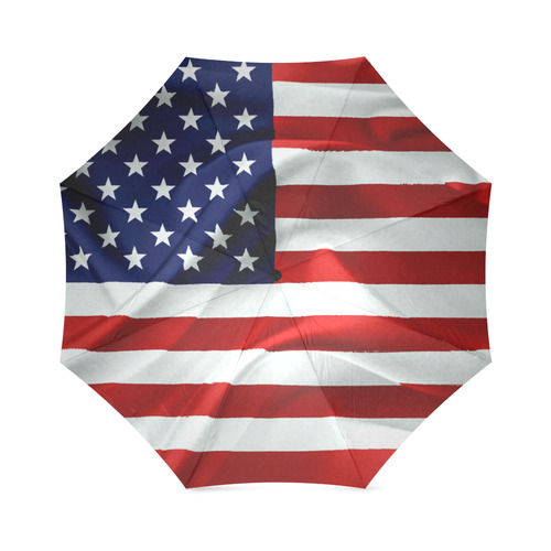America Flag Banner Patriot Stars Stripes Freedom Foldable Umbrella (Model U01)