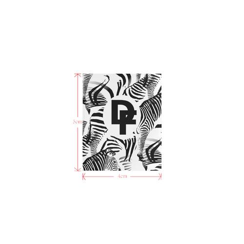 DF Zebra Logo Private Brand Tag on Beach Mat (4cm X 5cm)