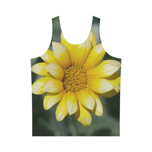 Yellow Flower, floral photo All Over Print Tank Top for Men (Model T43)