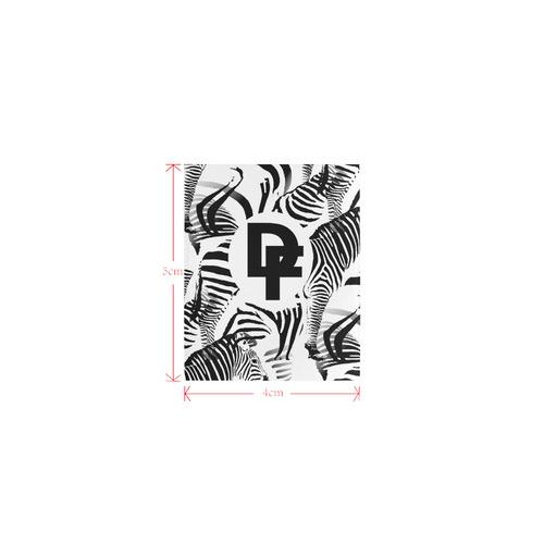 DF Zebra Logo Private Brand Tag on Circular Beach Shawl (4cm X 5cm)