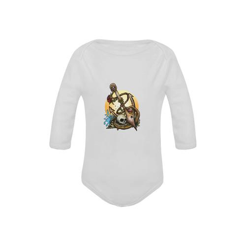 Anchored Baby Powder Organic Long Sleeve One Piece (Model T27)