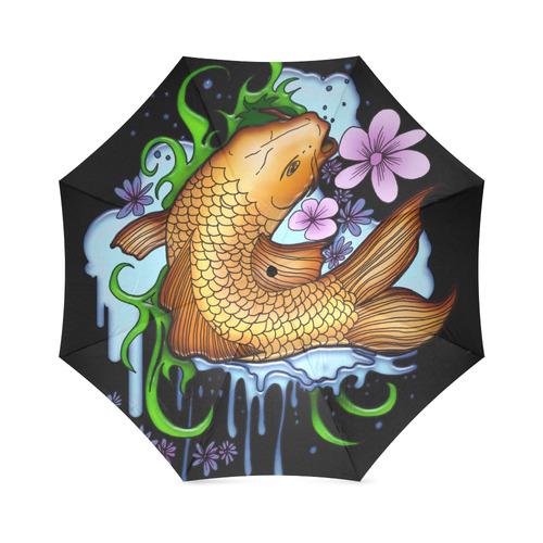 Koi Fish Foldable Umbrella (Model U01)