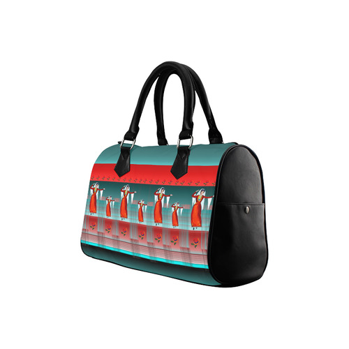 Armenian Dancers Boston Handbag (Model 1621)