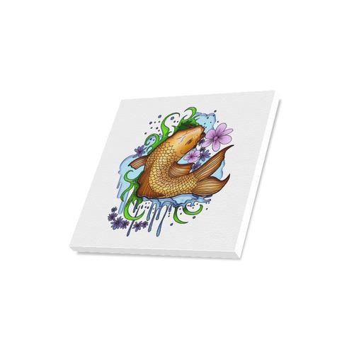 "Koi Fish Canvas Print 16""x16"""