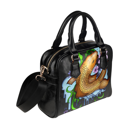 Koi Fish Shoulder Handbag (Model 1634)