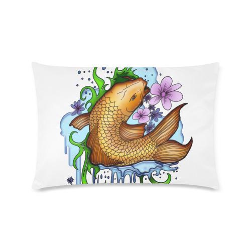 "Koi Fish Custom Rectangle Pillow Case 16""x24"" (one side)"