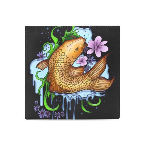 Koi Fish Women's Leather Wallet (Model 1611)