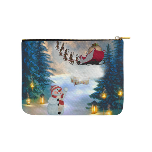 Santa Claus in the night Carry-All Pouch 8''x 6''