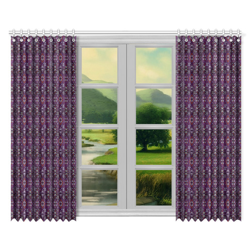 "Armenian Folk Art Window Curtain 52""x84""(Two Pieces)"