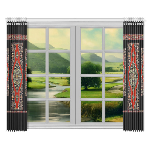 "Armenian Heritage Window Curtain 52""x84""(Two Pieces)"