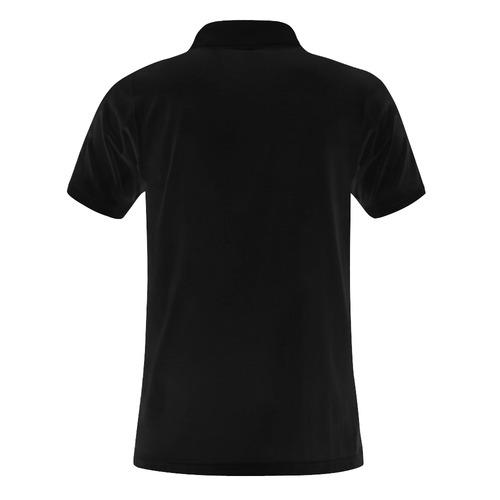Trucker driver load cargo transport road sun truck Men's Polo Shirt (Model T24)