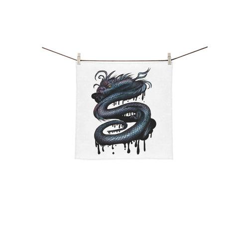 "Dragon Swirl Square Towel 13""x13"""