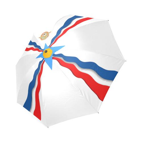 Assyrian Flag Umbrella Foldable Umbrella (Model U01)