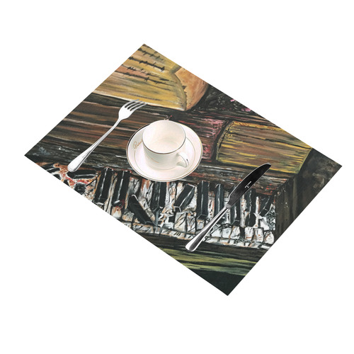 Broken Piano Placemat 14'' x 19''