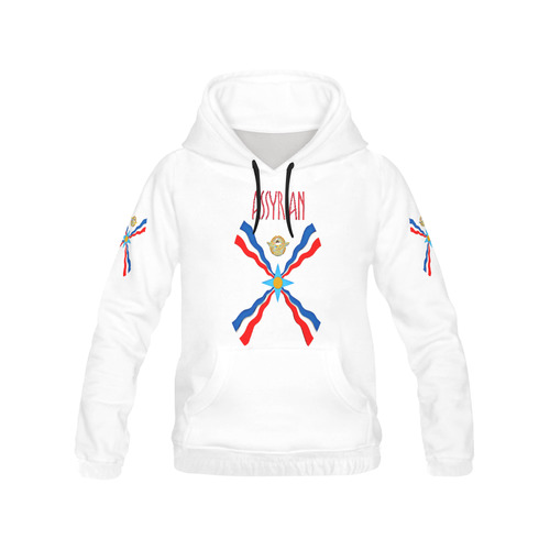 Assyrian Flag Hoodie All Over Print Hoodie for Men (USA Size) (Model H13)