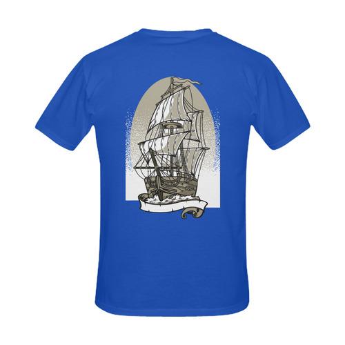 Ship Cobalt Men's Slim Fit T-shirt (Model T13)