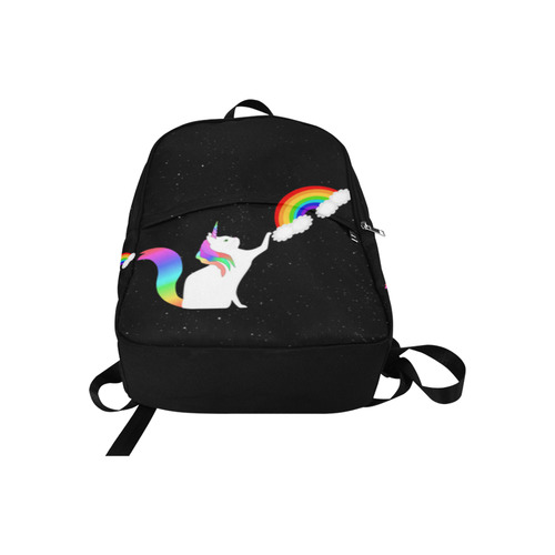 Unicorn Cat with Rainbow Fabric Backpack for Adult (Model 1659)