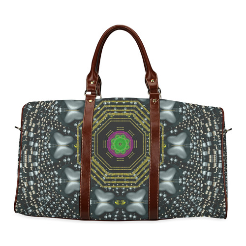 Leaf earth and heart butterflies in the universe Waterproof Travel Bag/Small (Model 1639)